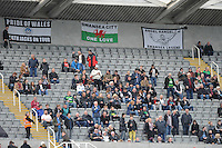 Swansea City fans during the Barclays Premier League match between Newcastle United and Swansea City played at St. James' Park, Newcastle upon Tyne, on the 16th April 2016