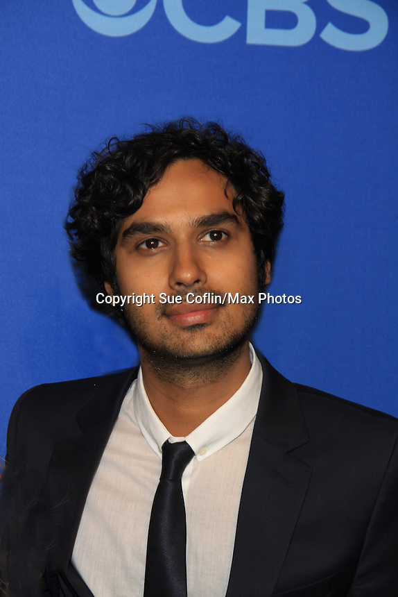 Kunal Nayyar - Big Bang Theory at the CBS Upfront on May 15, 2013 at Lincoln Center, New York City, New York. (Photo by Sue Coflin/Max Photos)