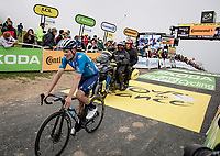 Enric Mas (ESP/Movistar) finishing up the Col du Portet (HC/2215m)<br /> <br /> Stage 17 from Muret to Saint-Lary-Soulan (Col du Portet)(178km)<br /> 108th Tour de France 2021 (2.UWT)<br /> <br /> ©kramon