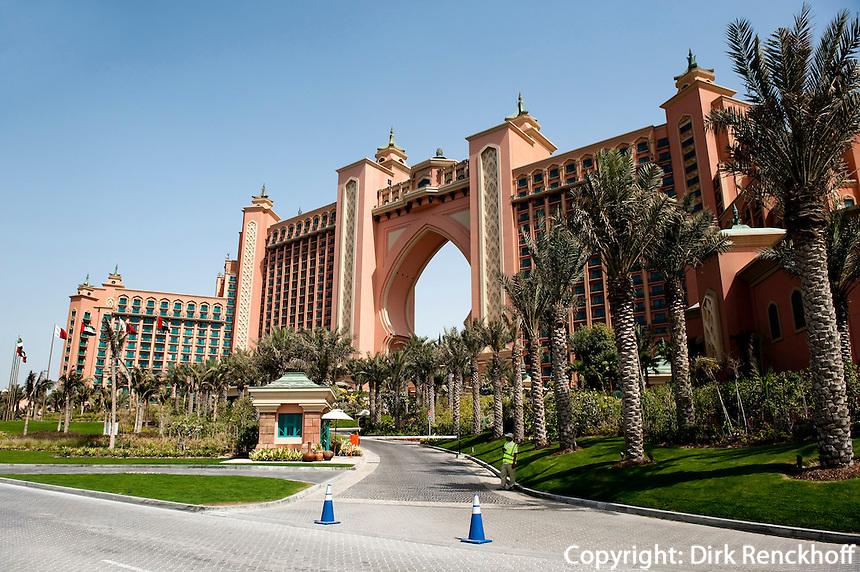 Vereinigte arabische Emirate (VAE), Dubai,   Hotel Atlantis auf der Palm Jumeirah