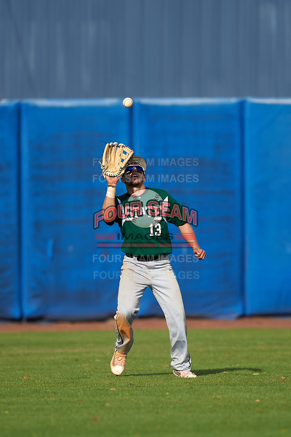 Farmingdale Rams center fielder Nick Attardi (13) during a game against the Union Dutchmen on February 21, 2016 at Chain of Lakes Stadium in Winter Haven, Florida.  Farmingdale defeated Union 17-5.  (Mike Janes/Four Seam Images)