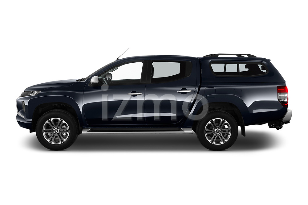 Car Driver side profile view of a 2020 Mitsubishi L200 Intense-Edition-One 4 Door Pick-up Side View