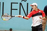 Kei Nishikori, Japan, during Madrid Open Tennis 2015 match.May, 6, 2015.(ALTERPHOTOS/Acero)