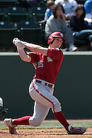 Derek Jones #25 of the Washington State Cougars bats against the UCLA Bruins at Jackie Robinson Stadium on March 24, 2012 in Los Angeles,California. UCLA defeated Washington 12-3.(Larry Goren/Four Seam Images)