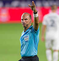 CARSON, CA - SEPTEMBER 19: Referee Ted Unkel during a game between Colorado Rapids and Los Angeles Galaxy at Dignity Heath Sports Park on September 19, 2020 in Carson, California.