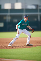 Hunter Selzer (65), from Berlin, Maryland, while playing for the Mariners during the Baseball Factory Pirate City Christmas Camp & Tournament on December 27, 2017 at Pirate City in Bradenton, Florida.  (Mike Janes/Four Seam Images)
