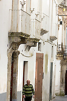 I caratteristici balconi in ferro battuto a via Cavour, nella cittadina di Martina Franca.<br /> Typical wrought iron balconies in via Cavour, in the town of Martina Franca.<br /> UPDATE IMAGES PRESS/Riccardo De Luca