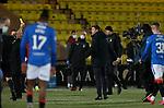 03.03.2021 Livingston v Rangers: Steven Gerrard booked at half time