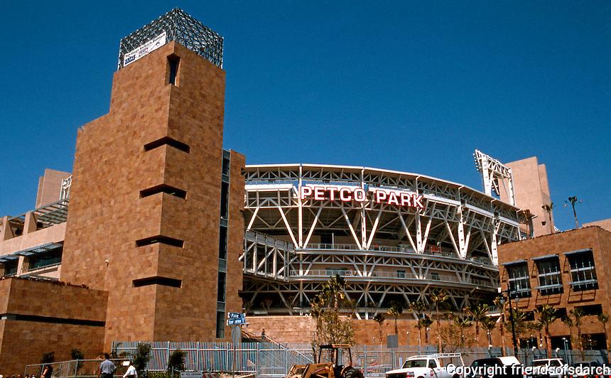 San Diego: Petco Park--Entrance. Antoine Predock, Architect--2004.