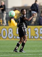 Formiga follows the ball. FC Gold Pride defeated Sky Blue FC 1-0 at Buck Shaw Stadium in Santa Clara, California on May 3, 2009.
