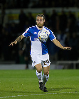 Stuart Sinclair of Bristol Rovers in action during the Johnstone's Paint Trophy match between Bristol Rovers and Wycombe Wanderers at the Memorial Stadium, Bristol, England on 6 October 2015. Photo by Andy Rowland.
