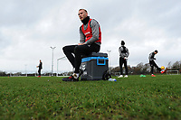 Mike van der Hoorn of Swansea City in action during the Swansea City Training at The Fairwood Training Ground, Swansea, Wales, UK. Tuesday 22 January 2019