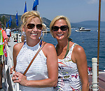Georgia Phares and Pamela Struyk during the Concours d'Elegance Wood Boat Show at Lake Tahoe on Friday, August 10, 2018.