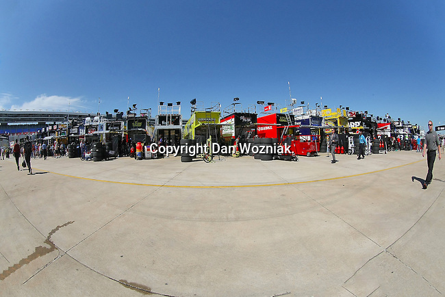 Sprint Cup Series teams in action during the Nascar Sprint Cup Series practice session at Texas Motor Speedway in Fort Worth,Texas.