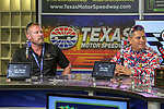Veterans Mark Geist and Ed Pulido in action during the Monster Energy NASCAR Cup Series, AAA Texas 500, race at the Texas Motor Speedway in Fort Worth,Texas.