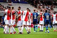 EMMEN - Voetbal, FC Emmen - Heracles Almelo , voorbereiding seizoen 2021-2022, 25-07-2021,  Emmen viert de 2-0