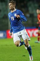 "Samuele Longo.Siena 13/11/2012 Stadio ""Franchi"".Football Calcio Nazionale U21.Italia v Spagna.Foto Insidefoto Paolo Nucci."