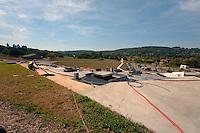 Sur le site de Lascaux IV, au-dessus du bâtiment