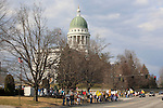 Rally at the Maine state capitol in protest of government sponsored health care, Augusta, Maine, USA