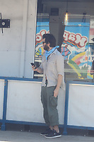 Johnny Whitworth Waits For Uber Driver In Hollywood