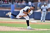 Asheville Tourists starting pitcher Alfredo Garcia (26) delivers a pitch during a game against the Augusta GreenJackets at McCormick Field on April 7, 2019 in Asheville, North Carolina. The GreenJackets  defeated the Tourists 11-2. (Tony Farlow/Four Seam Images)
