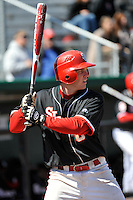 St.John's Red Storm secondbaseman Matt Wessinger (0) during a game against Louisville Cardinals at Jack Kaiser Stadium in Queens, New York;  April 17, 2011.  St. John's defeated Louisville 7-2.  Photo By Tomasso DeRosa/Four Seam Images