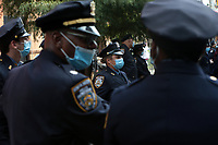 NEW YORK, NEW YORK: SEPTEMBER 25, 2020- New York City Police Department Chief of Community Affairs Jeffrey Maddrey makes remarks at 308 West 128 Street, Manhattan, in recognition of National Day of Remembrance for Murder Victims in the Harlem section of New York City on September 25, 2020.   <br /> CAP/MPI43<br /> ©MPI43/Capital Pictures