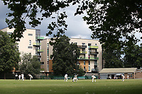 General view of the action during Barking CC (batting) vs Hornchurch Athletic CC, Hamro Foundation Essex League Cricket at Mayesbrook Park on 31st July 2021