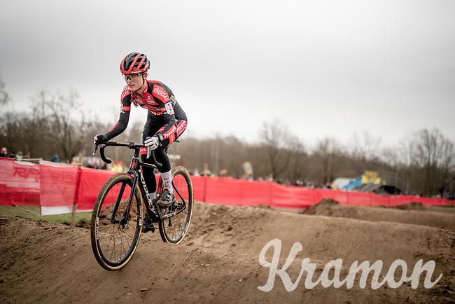 race leader Denise Betsema (NED/Pauwels Sauzen - Bingoal) <br /> <br /> Women's Race<br /> CX GP Leuven (BEL) 2020<br />  <br /> ©kramon