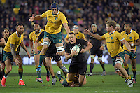 All Blacks' Isael Dagg in action during the All Blacks v Wallabies. The Rugby Championship & Bledisloe Cup at Westpac Stadium, Wellington, New Zealand on Saturday 27 August 2016.<br /> Photo by Masanori Udagawa. <br /> www.photowellington.photoshelter.com.