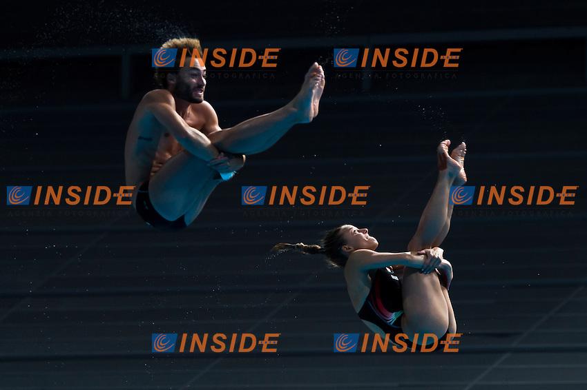 CAGNOTTO Tania and VERZOTTO Maicol ITA bronze medal <br /> Diving - Mixed 3m Synchro springboard<br /> Day 10 02/08/2015<br /> XVI FINA World Championships Aquatics Swimming<br /> Kazan Tatarstan RUS July 24 - Aug. 9 2015 <br /> Photo Giorgio Perottino/Deepbluemedia/Insidefoto