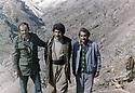 Iraq 1980?.  Adel Murad with an Egyptian and a Yugoslavian ingeneer captured in the mountains<br /> Irak 1980?. Adel Murad , avec deux otages, un égyptien et un ingenieur yougoslave capturés dans les montagnes