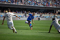 SAN JOSE, CA - AUGUST 8: Jackson Yueill #14 during a game between Los Angeles FC and San Jose Earthquakes at PayPal Stadium on August 8, 2021 in San Jose, California.