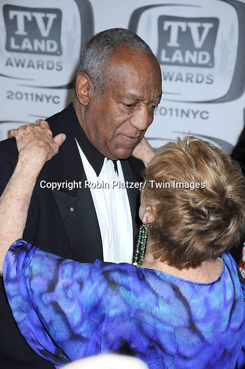 Bill Cosby and Cloris Leachman attending The TV Land Awards 2011 .on April 10, 2011 at the Jacob Javits Center in New York City.