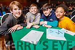 Scoil Ceanntrá NS Ventry students Aoife Nic Gabhann, Jaic Ó Cuinn, Cuán Ó Fiannachta and Ríona Ní Mhuircheartaidh at the Regional finals of the Chapter 23 Credit Union quiz in the Ballyroe Heights Hotel on Sunday.