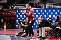 STANFORD, CA - March 7, 2020: Assistant Coach Alex Tirapelle of Stanford during the 2020 Pac-12 Wrestling Championships at Maples Pavilion.