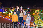 Enjoying Purcell's Annual Christmas lights at Sunhill in Killorglin on Sunday evening, to funds for Killorglin Recovery Haven & Killorglin Hospice, were:<br /> L-R Kayden Hogan, Margaret Hogan, Noelle O'Keefe, Ethan & Adele O'Keefe