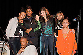 Winners of a music and dance performance competition organised by Central London Youth Development, at the Cockpit Theatre, London.