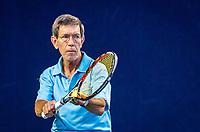 Hilversum, The Netherlands,  August 17, 2021,  Tulip Tennis Center, NKS, National Senior Tennis Championships, Men's 70+ Carl Adamse (NED)<br /> Photo: Tennisimages/Henk Koster