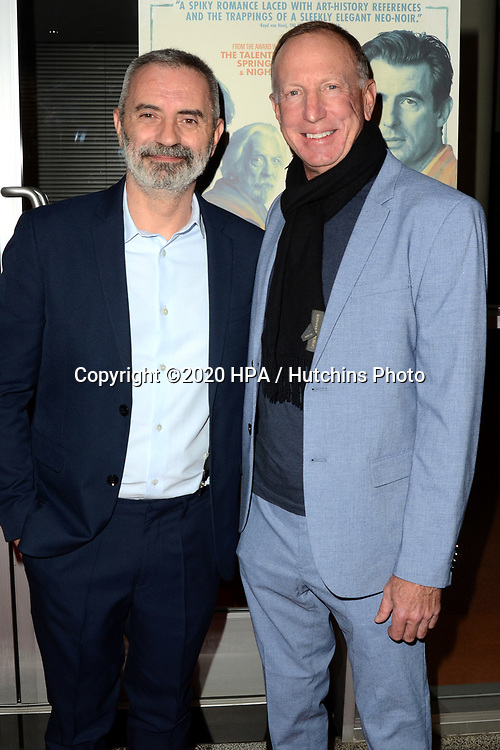 """LOS ANGELES - MAR 2:  Giuseppe Capotondi, David Lancaster at the """"The Burnt Orange Heresy"""" Special Screening at the Linwood Dunn Theater on March 2, 2020 in Los Angeles, CA"""