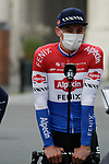 Dutch Champion Mathieu Van Der Poel (NED) Alpecin-Fenix at sign on before the start of the 82nd edition of Gent-Wevelgem 2020 running 232km from Ypres to Wevelgem, Belgium. 11th October 2020.  <br /> Picture: Colin Flockton   Cyclefile<br /> <br /> All photos usage must carry mandatory copyright credit (© Cyclefile   Colin Flockton)