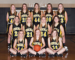 November 20, 2013- Tuscola, IL- The 2013-2014 Warrior Girls Junior Varsity Basketball team. Back row from left are Logan Hale, Halle McCrory, Madeline Meinhold, Lexi Sluder, and Emma Henderson. Middle row from left are Abbey Walsh, Anna Kauffman, Brooke Hennis, and Tori Wasiloski. Front row from left are Ashley Bartley, Kara O'Hearn, and Anna Watson. [Photo: Douglas Cottle]