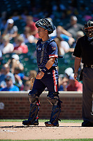 Jack Bulger (33) during the Under Armour All-America Game, powered by Baseball Factory, on July 22, 2019 at Wrigley Field in Chicago, Illinois.  Jack Bulger attends DeMatha Catholic High School in Bowie, Maryland and is committed to Vanderbilt University.  (Mike Janes/Four Seam Images)