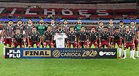 Rio de Janeiro (RJ), 15/07/2020 - Flamengo-Fluminense - Time posado do Fluminense. Partida entre Flamengo e Fluminense, válida pela final do Campeonato Carioca 2020, no Estádio Jornalista Mário Filho (Maracanã), na zona norte do Rio de Janeiro, nesta quarta-feira (15).