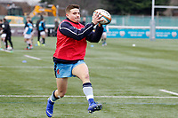 London Scottish practice ball handling during the Greene King IPA Championship match between Ealing Trailfinders and London Scottish Football Club at Castle Bar , West Ealing , England  on 19 January 2019. Photo by Carlton Myrie/PRiME Media Images