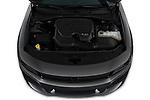 Car stock 2019 Dodge Charger SXT 4 Door Sedan engine high angle detail view