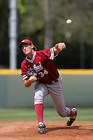 April 3 2010: Brett Mooneyham of the Stanford Cardinal during game against the UCLA Bruins at UCLA in Los Angeles,CA.  Photo by Larry Goren/Four Seam Images