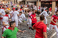 Europe,Spain,Pamplona,San Firmin festival 2018, Encierro, bulls running