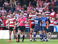 9th October 2021; Kingsholm Stadium, Gloucester, England; Gallagher Premiership Rugby, Gloucester versus Sale Sharks;  Curtis Langdon of Sale Sharks misses the final conversion attempt in the match to leave Gloucester winners 33-32