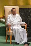 DSG meeting<br /> <br /> AM Plenary General DebateHis<br /> <br /> <br /> His Excellency Maithripala SIRISENA President of the Democratic Socialist Republic of Sri Lanka